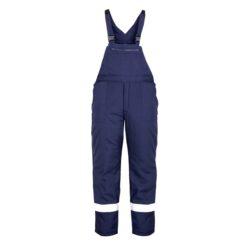 Pantaloni pieptar vatuiti cu benzi reflectorizante PILZEN 9062